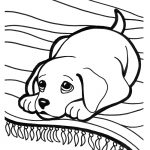 Super Cute Puppy Coloring Page Printable
