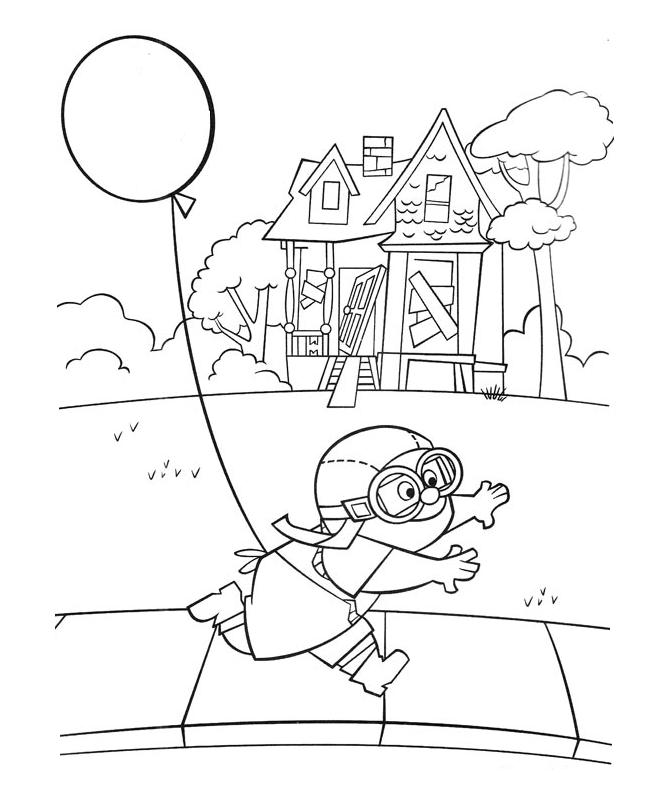 Up Coloring Page Printables