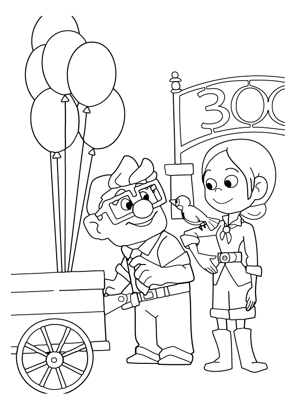 Up Coloring Pages Printables