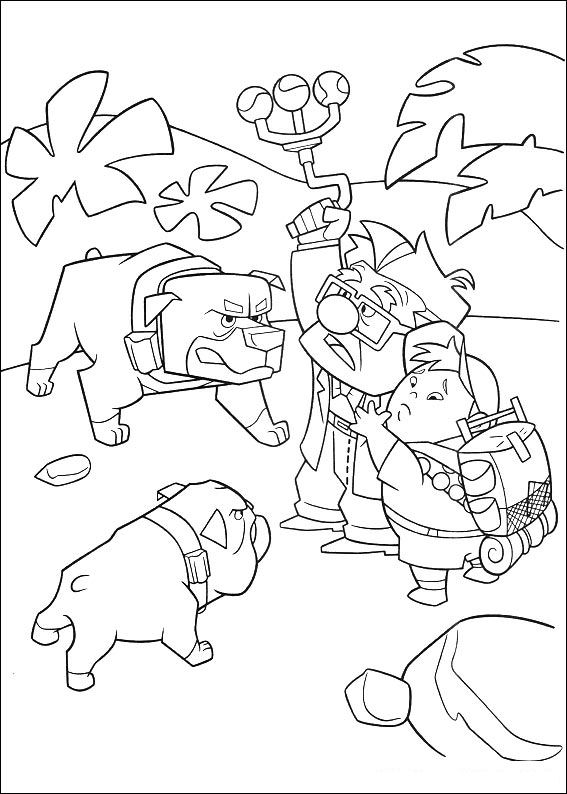 Up Coloring Pages dogs