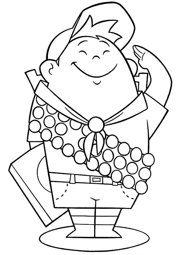 Russell from up coloring pages ~ Up Coloring Pages - Best Coloring Pages For Kids