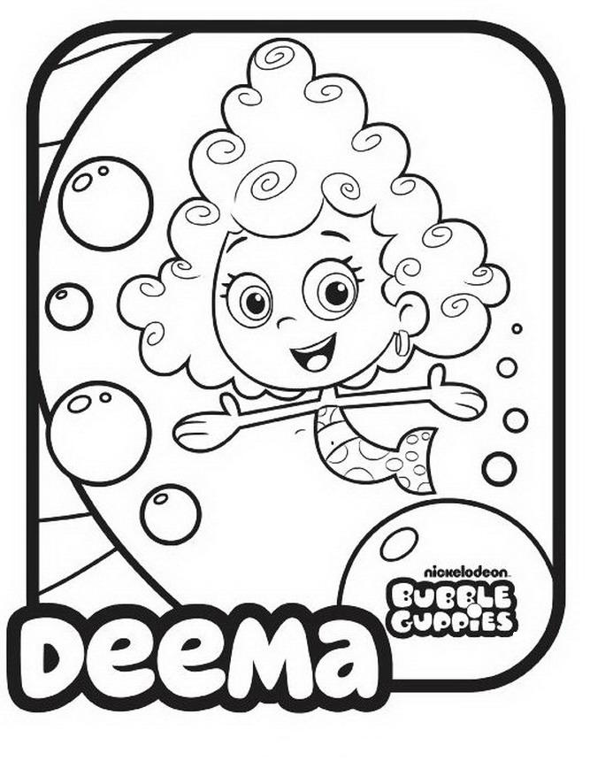 Bubble Guppies Coloring Pages - Deema