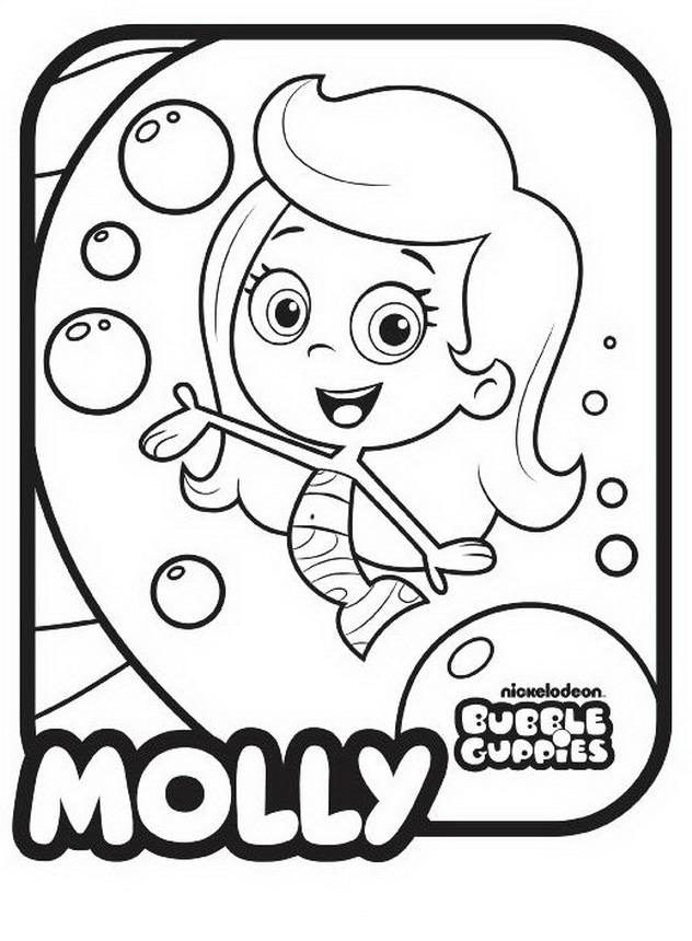 Bubble Guppies Coloring Pages - Molly