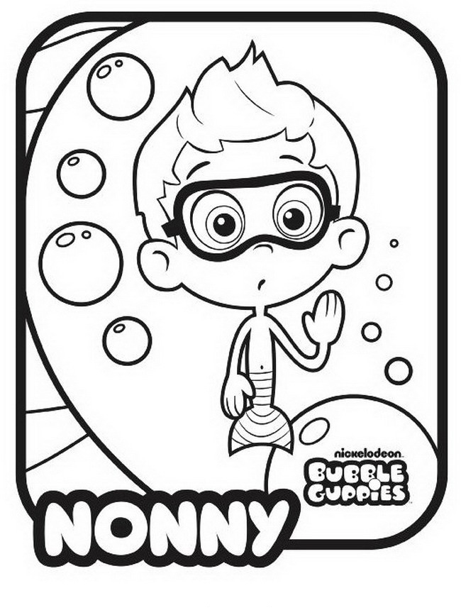 Bubble Guppies Coloring Pages - Nonny