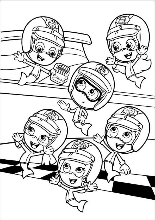 Bubble Guppies Coloring Pages Printable