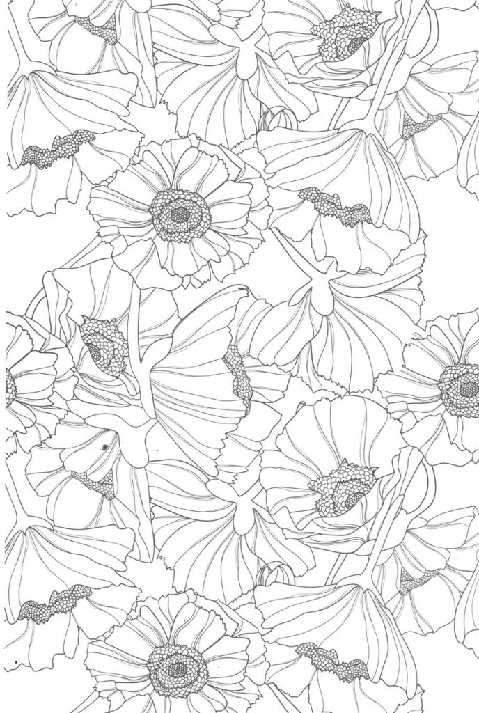 Flowers Coloring Pages for Teens