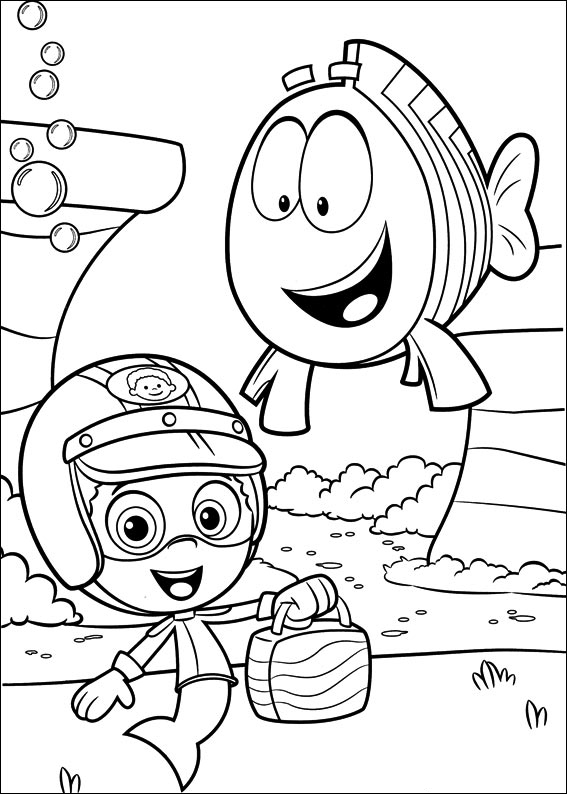Free Bubble Guppies Coloring Page Printable