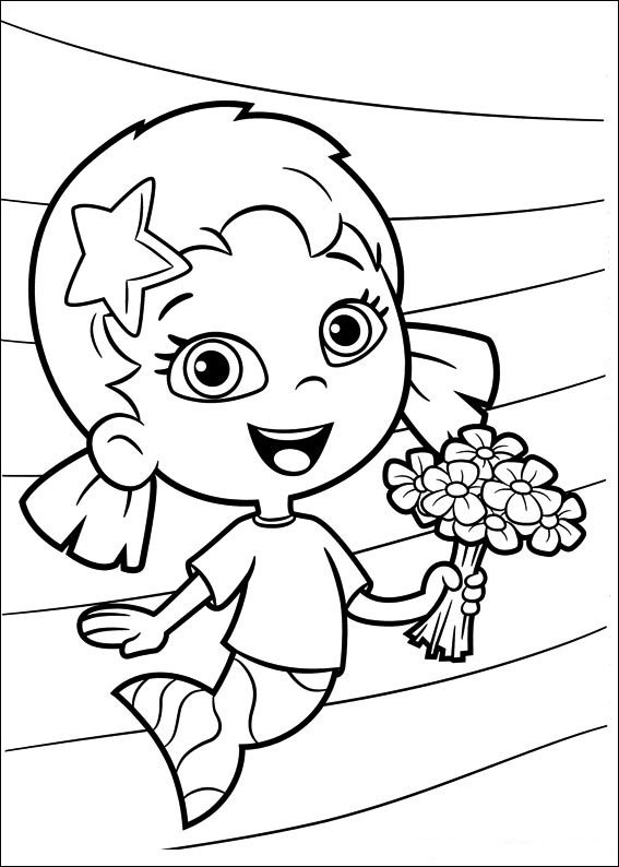 Free Bubble Guppies Coloring Page