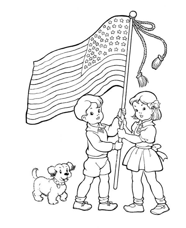 Attractive Free Printable Memorial Day Coloring Page