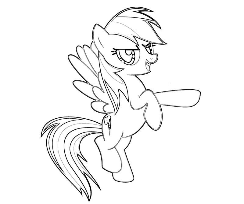 Free Rainbow Dash Coloring Pages