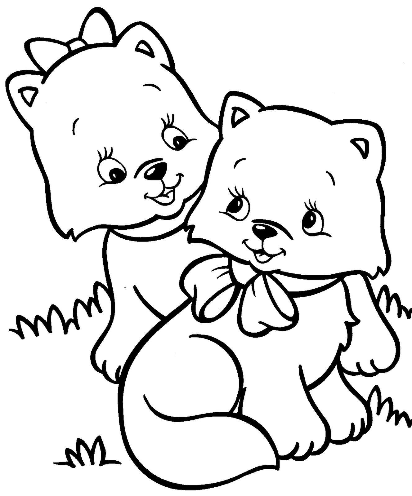 photograph regarding Printable Kitten Coloring Pages titled Kitten Coloring Webpages - Great Coloring Webpages For Small children