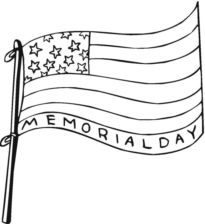 Memorial Day Coloring Pages Flag
