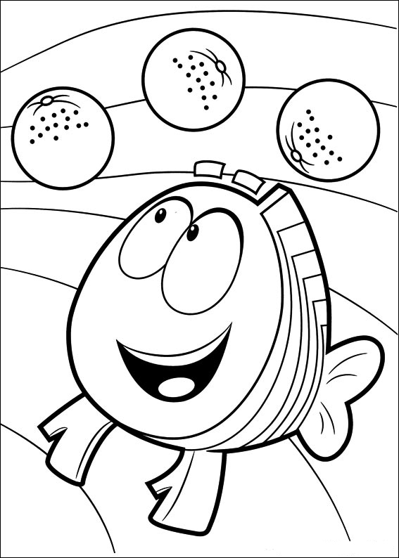 Printable Bubble Guppies Coloring Page
