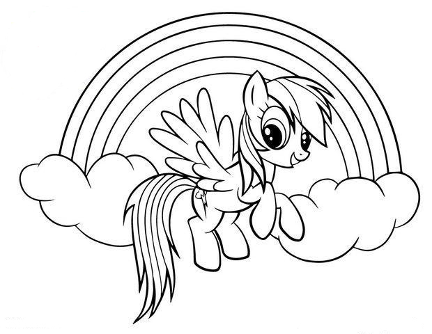 Printable Rainbow Dash Coloring Pages