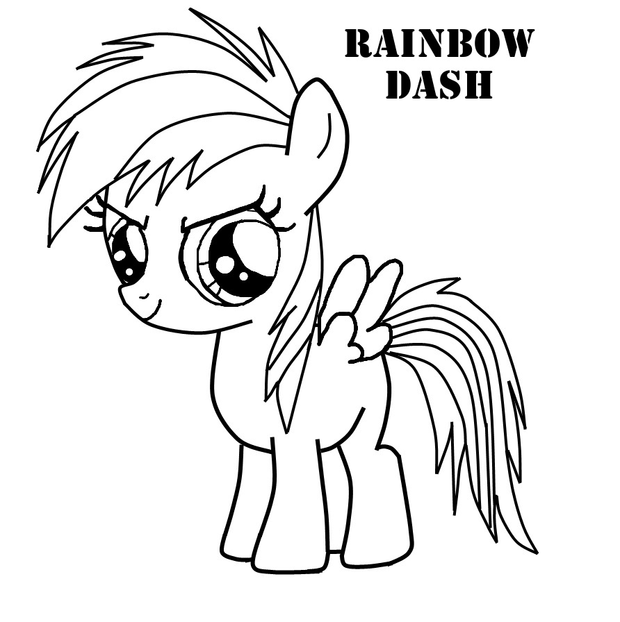 Rainbow Dash Coloring Page - Copy