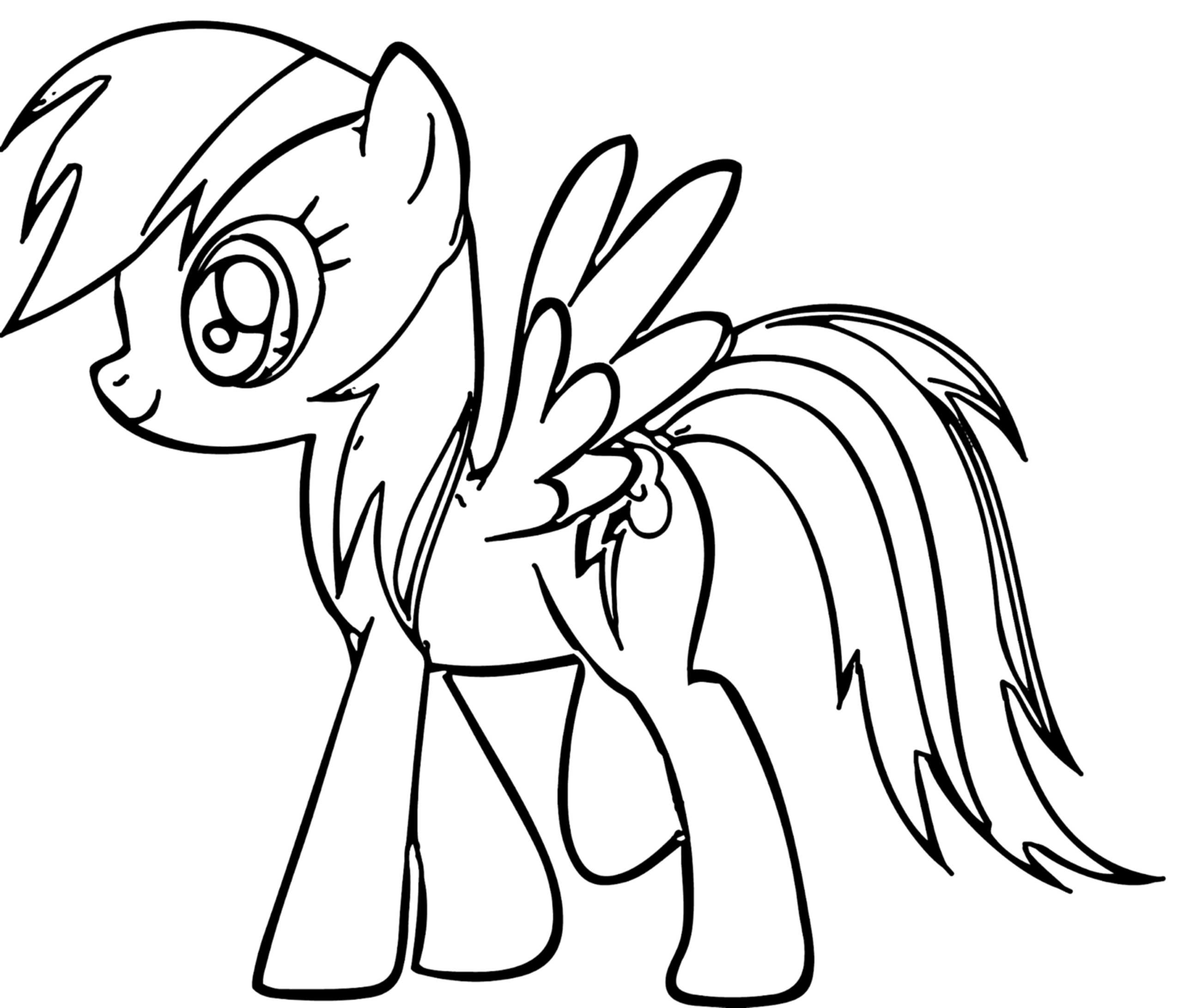 Rainbow Dash Coloring Page Printable