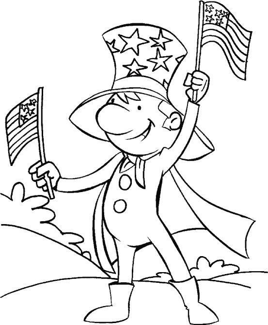 4th of July Coloring Pages Printables