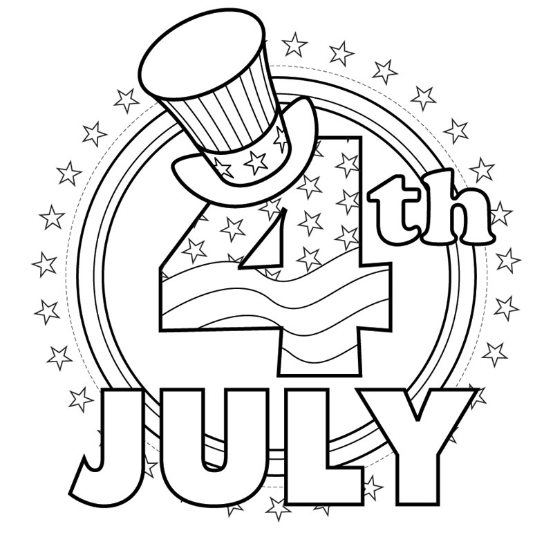 picture about 4th of July Coloring Pages Printable identified as 4th of July Coloring Internet pages - Most straightforward Coloring Webpages For Children