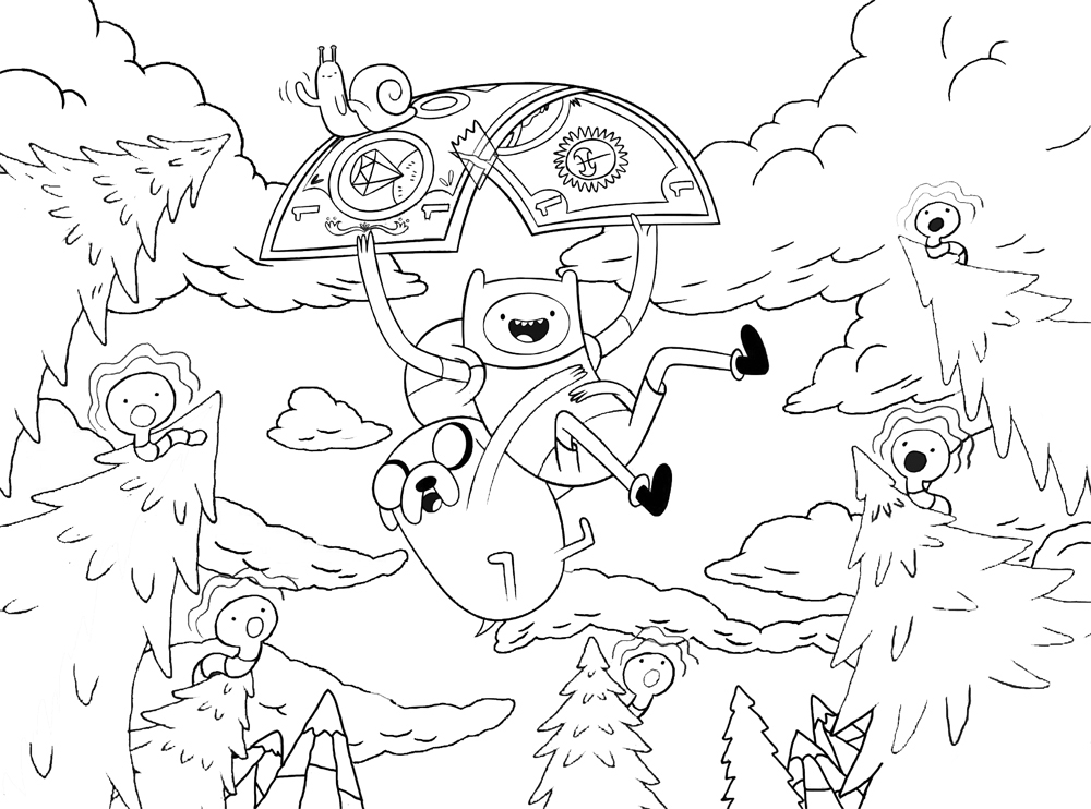 Adventure Time Coloring Page