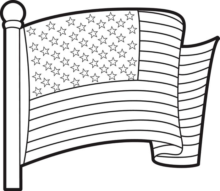Current image regarding printable american flag coloring page