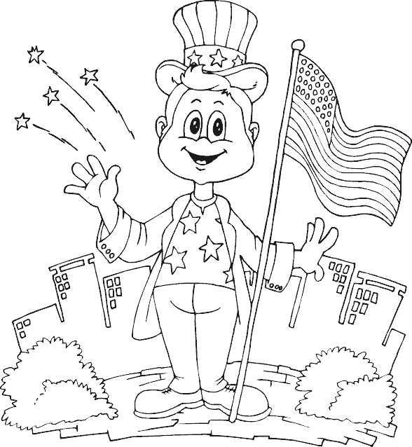 American Flag Coloring Pages Stars and Stripes