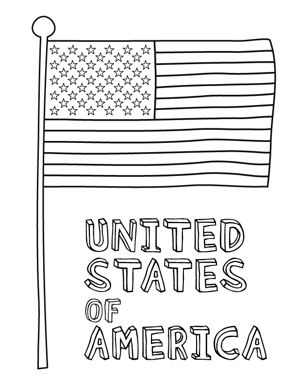American Flag Coloring Pages - USA