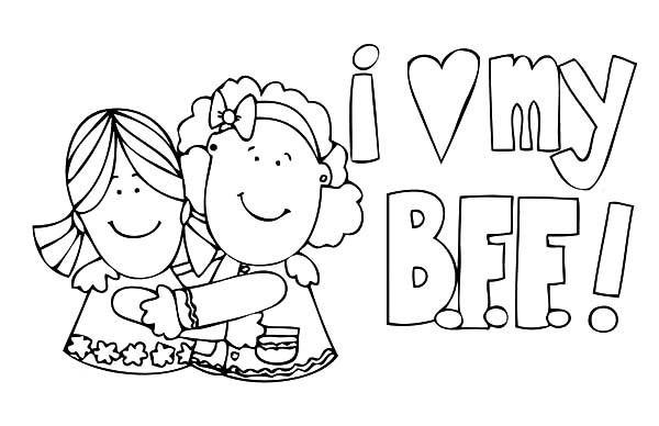 Best Friends Coloring Page