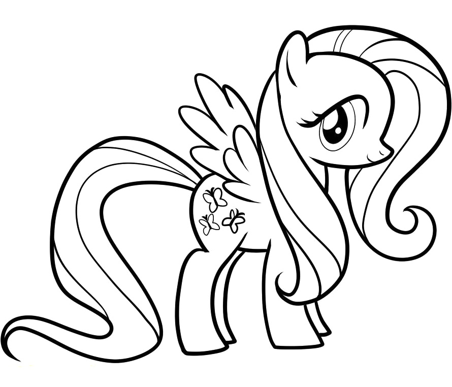 Color fluttershy color fluttershy my little pony fluttershy coloring pages