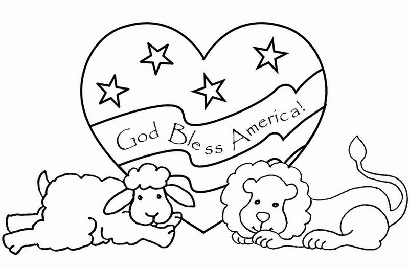 Download Free American Flag Coloring Pages