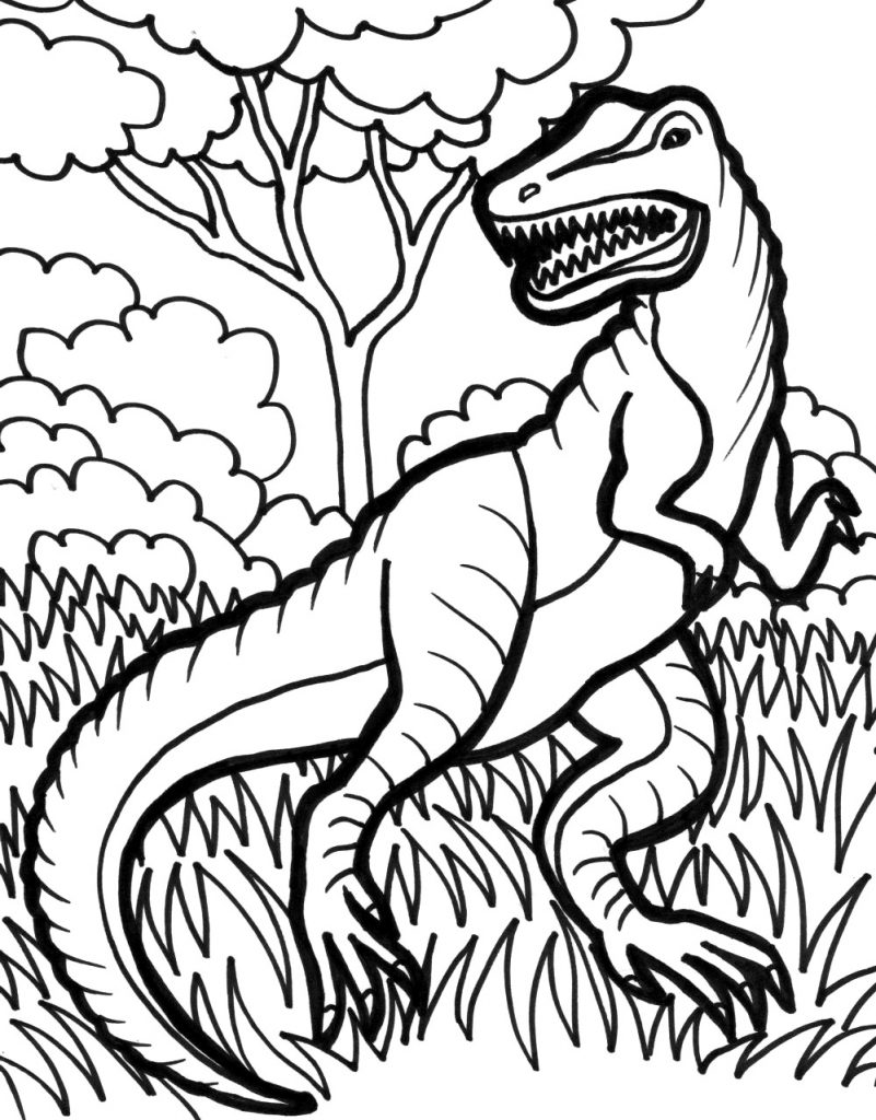 Download Free TRex Coloring Pages