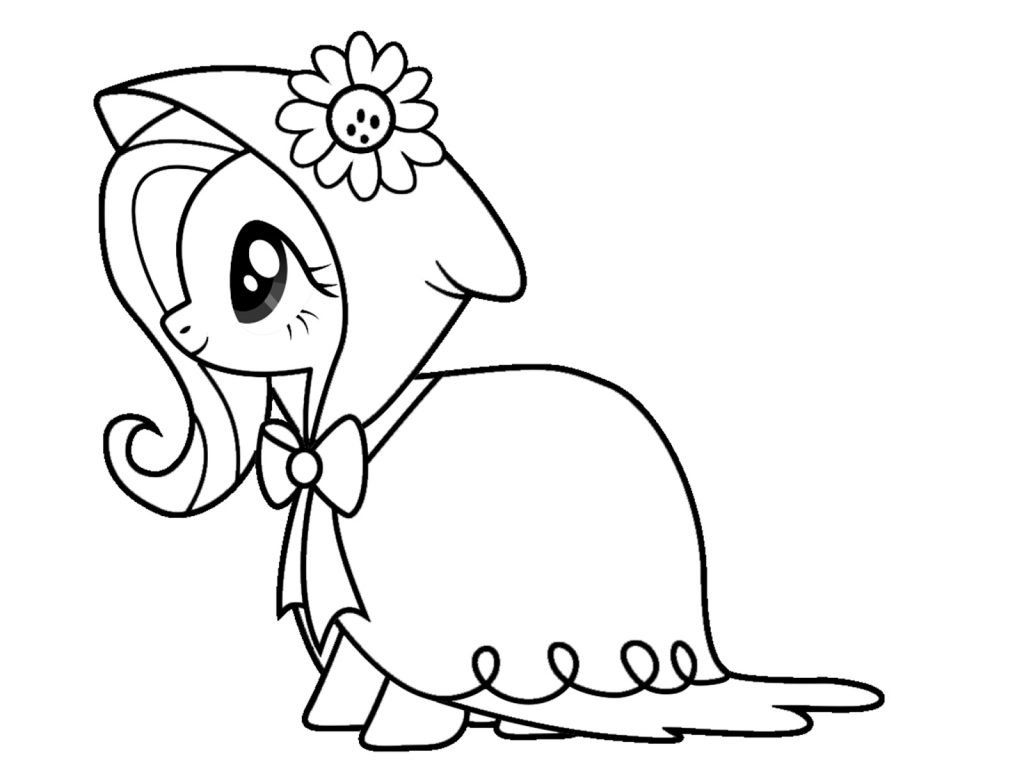 Download and Print Fluttershy Coloring Pages