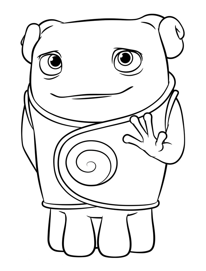 Dreamworks Home Coloring Pages - Oh