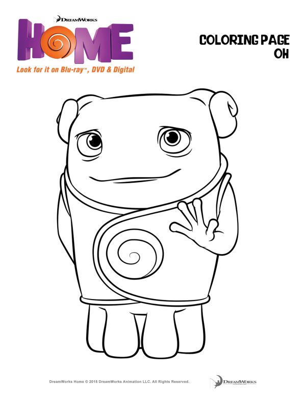 Dreamworks Home Coloring Pages