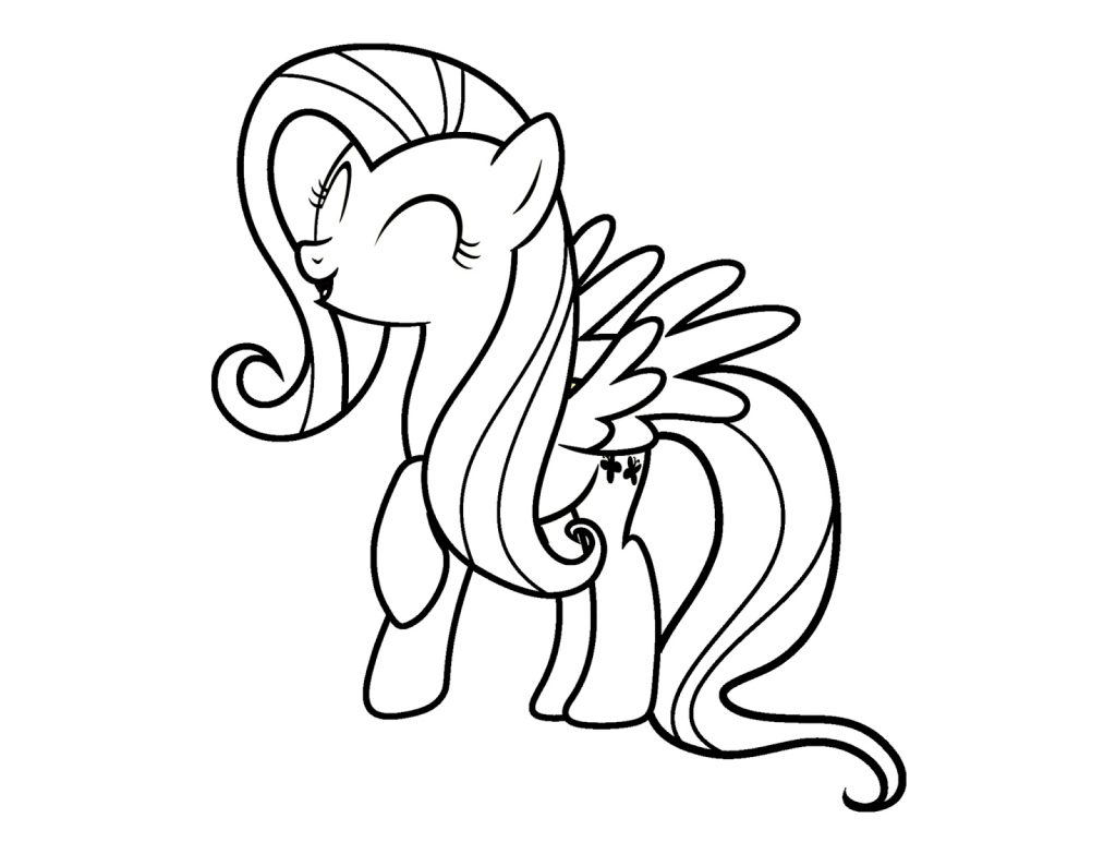 Fluttershy Coloring Pages Free Printables