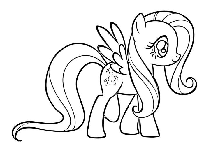 Fluttershy Coloring Pages My Little Pony