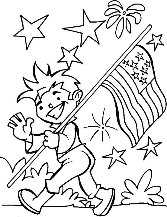 Sweet image throughout fourth of july printable coloring pages