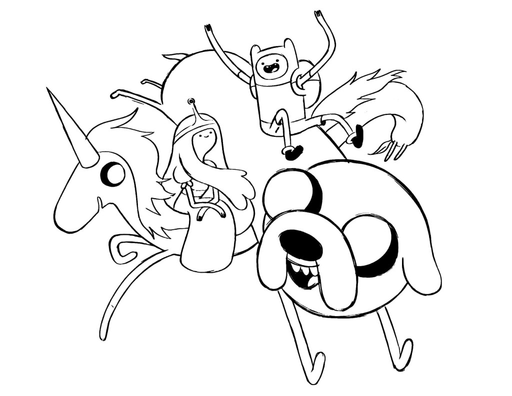 Elegant Free Adventure Time Coloring Pages To Print