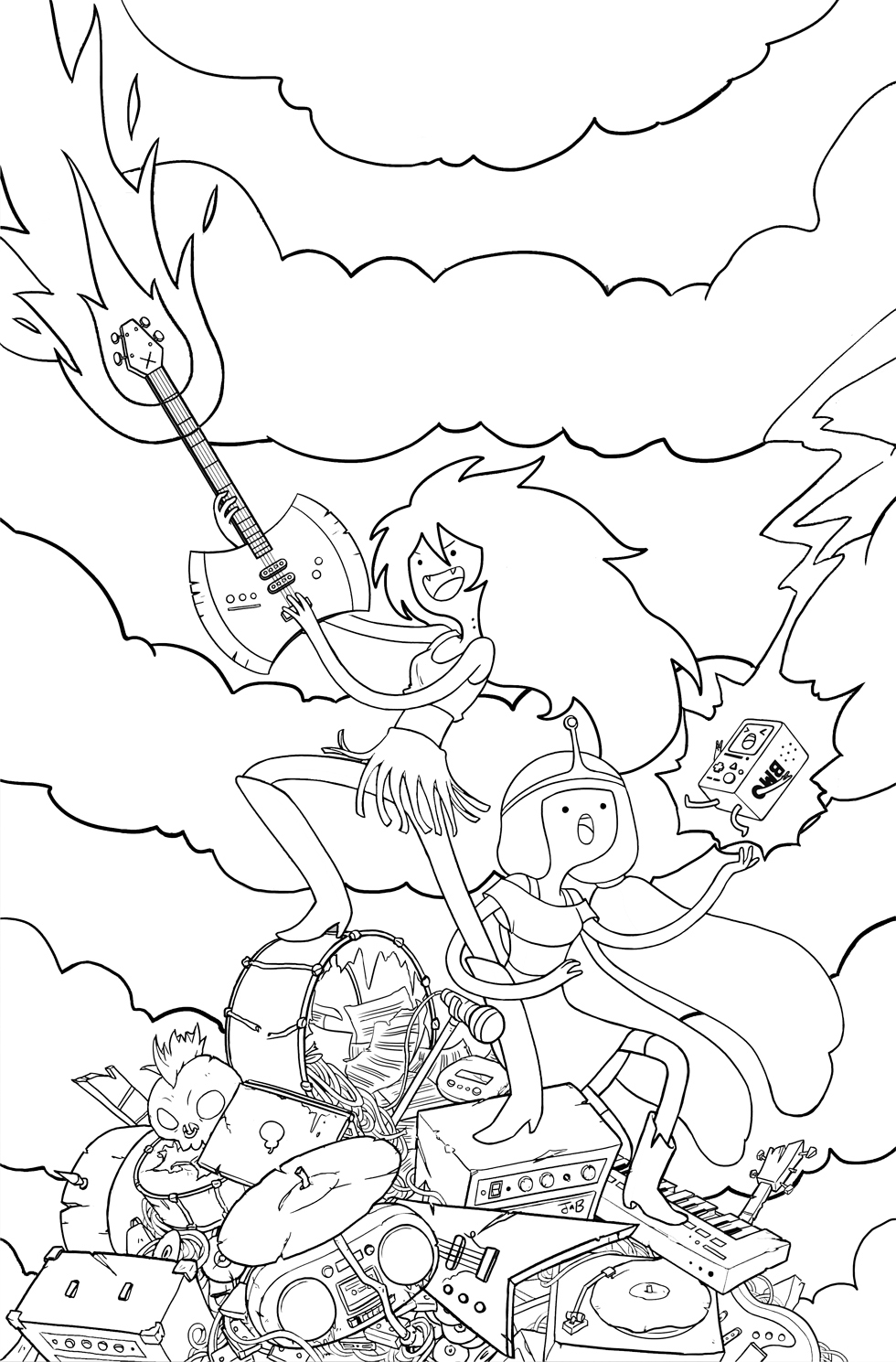 free printout coloring pages | Adventure Time Coloring Pages - Best Coloring Pages For Kids