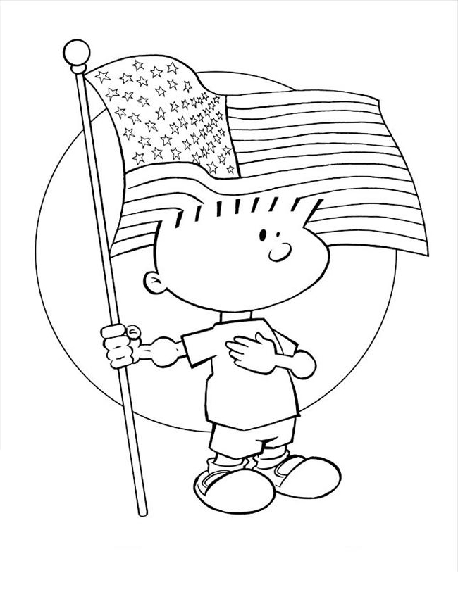 Free American Flag Coloring Pages Patriotic