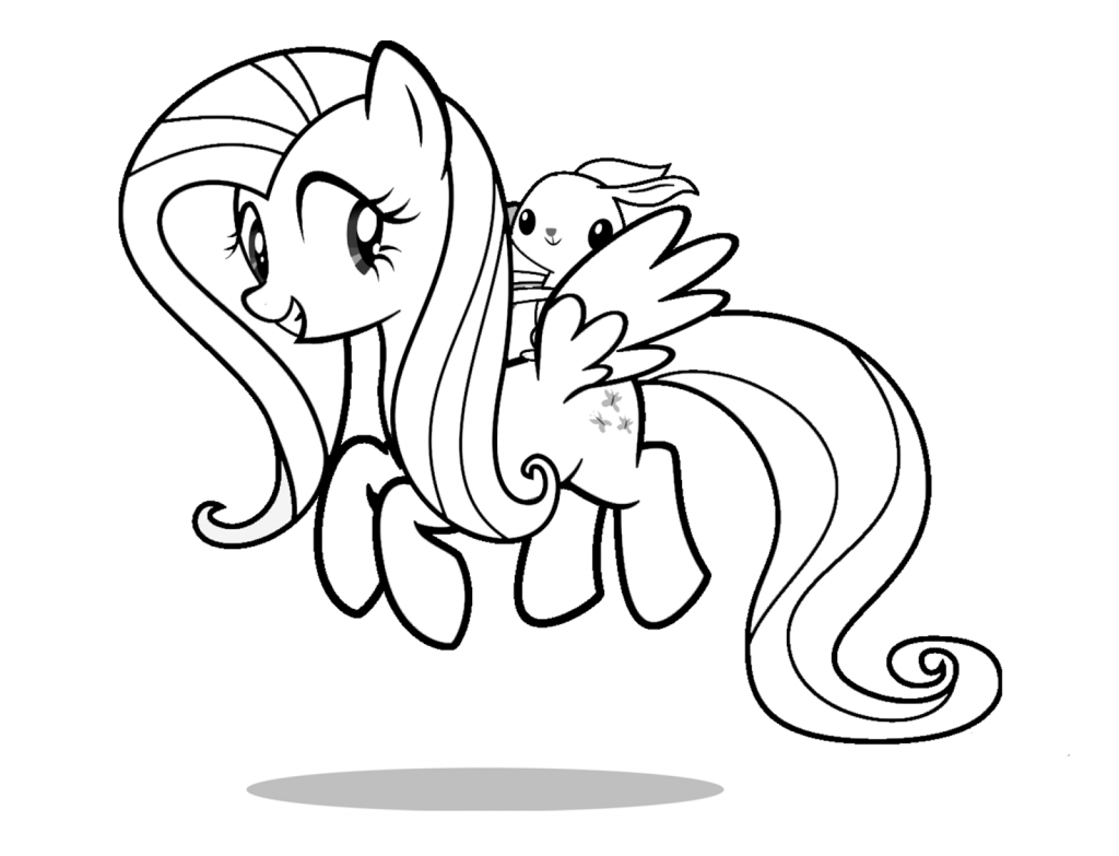 Free Download Fluttershy Coloring Pages