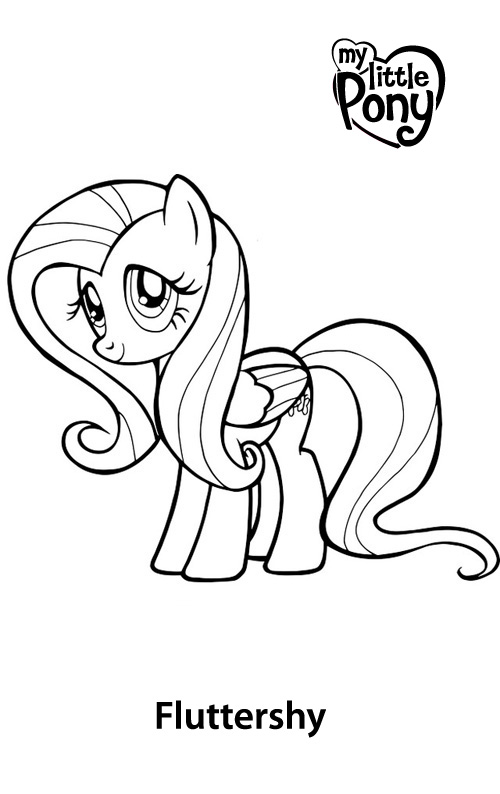 Free Printable Fluttershy Coloring Pages