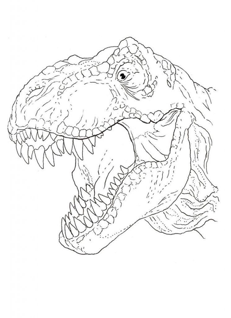 Free Printable TRex Coloring Pages