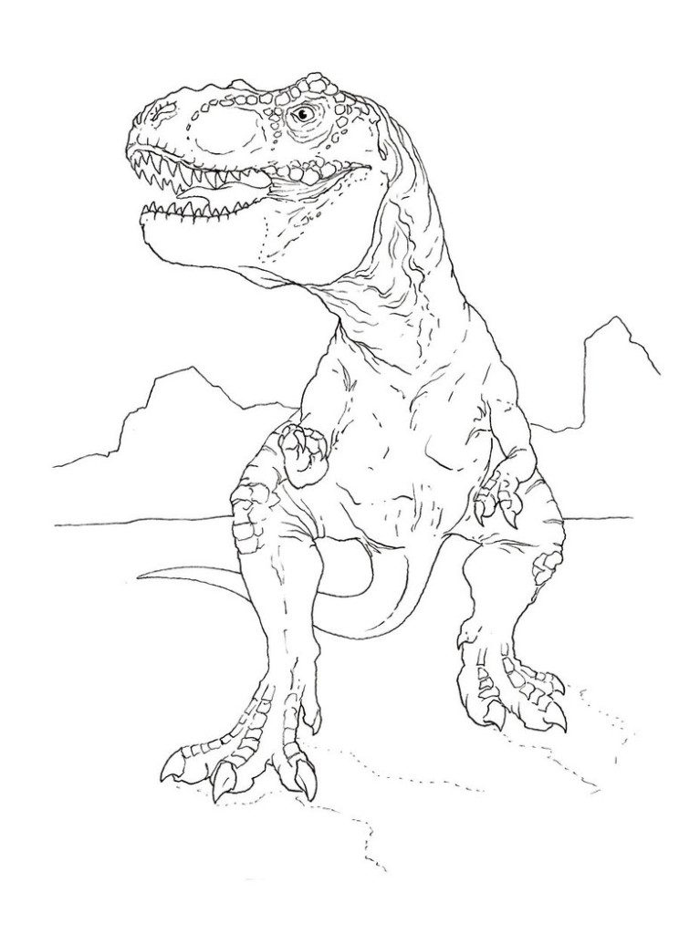 Wonderful Free TRex Coloring Pages To Print