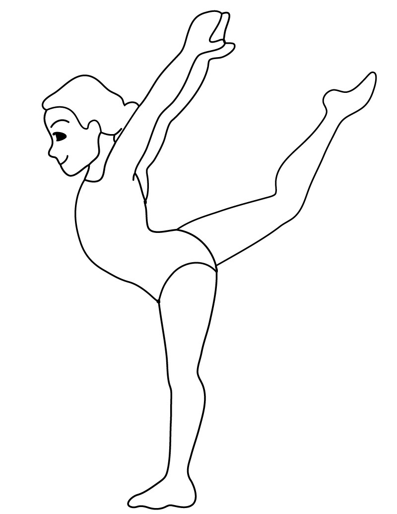 gymnastics coloring pages best for kids - Gymnastics Coloring Pages
