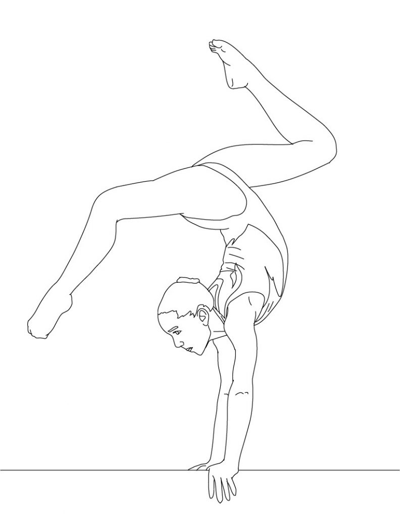 Gymnastics coloring pages printable