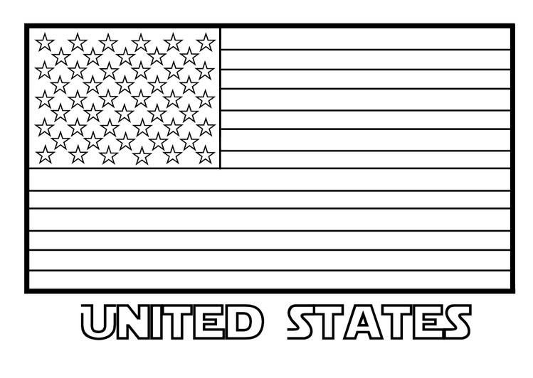 Patriotic American Flag Coloring Pages