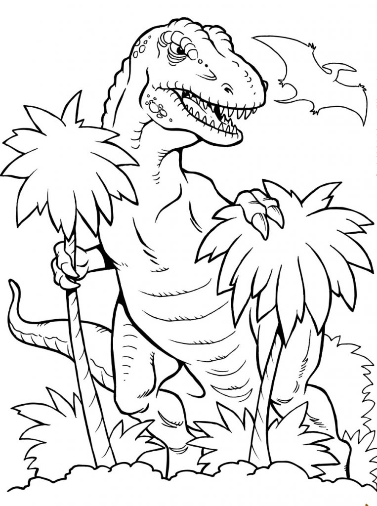 Print TRex Coloring Pages