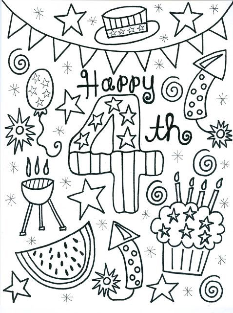 picture about 4th of July Coloring Pages Printable called 4th of July Coloring Webpages - Least complicated Coloring Webpages For Children