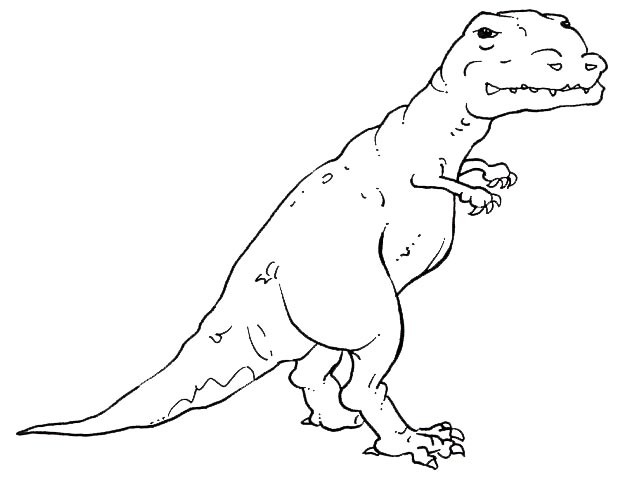 TRex Coloring Page Printables