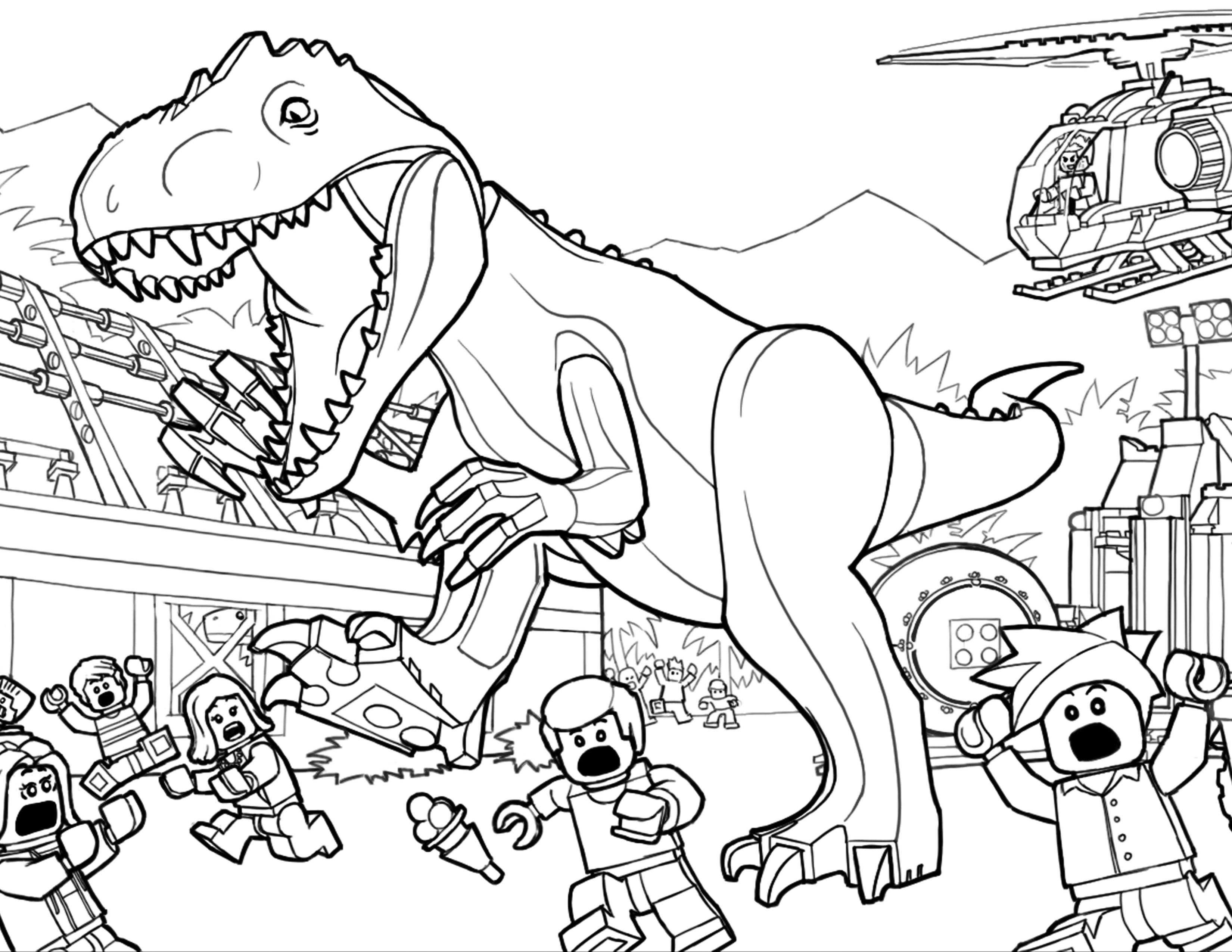 kleurplaat jurassic world dilophosaurus 33 dessins de